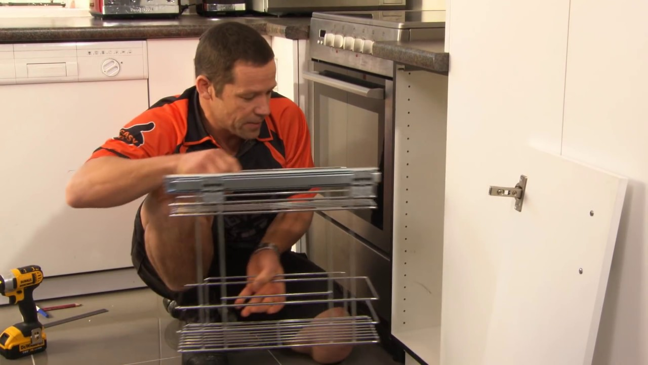 how to install a kitchen cupboard organiser mitre 10 easy as