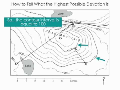 How Do You Find The Elevation On A Topographic Map.Topos Highest Possible Point Youtube