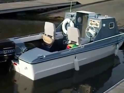 Float Test of My Trihull Boat with Homemade Cabin - YouTube