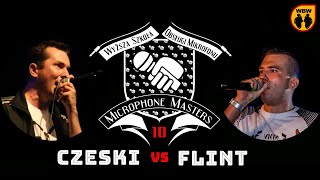 FLINT vs CZESKI @ Microphone Masters 10 @ freestyle battle