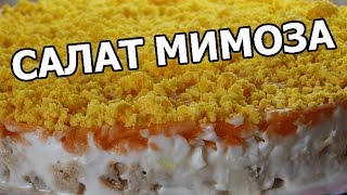 мимоза видео рецепт