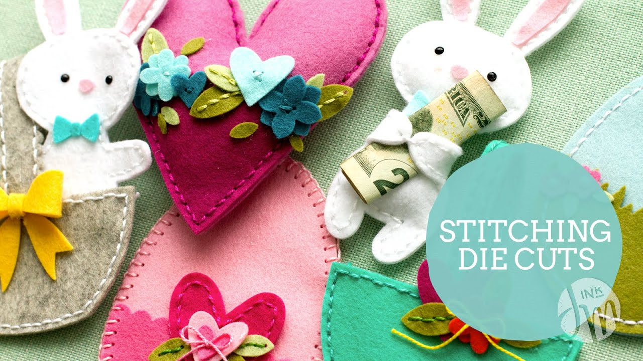 Papercraft Tips for Stitching Felt Die Cuts