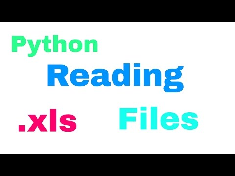 How to read  xls (Excel) files with Python - Tutorial - YouTube