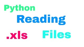 How to read .xls (Excel) files with Python - Tutorial