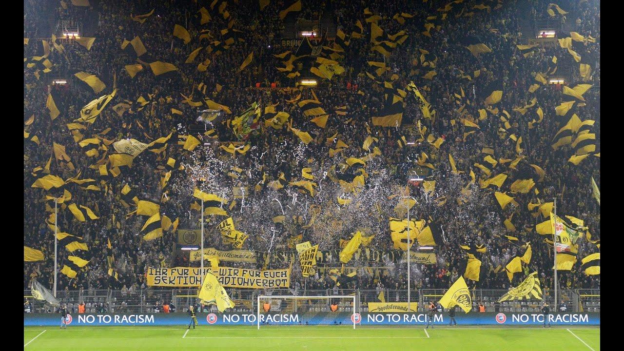 Stimmung Sdtribne Borussia Dortmund Schachtar Donezk  CL BVB Champions League Atmosphere