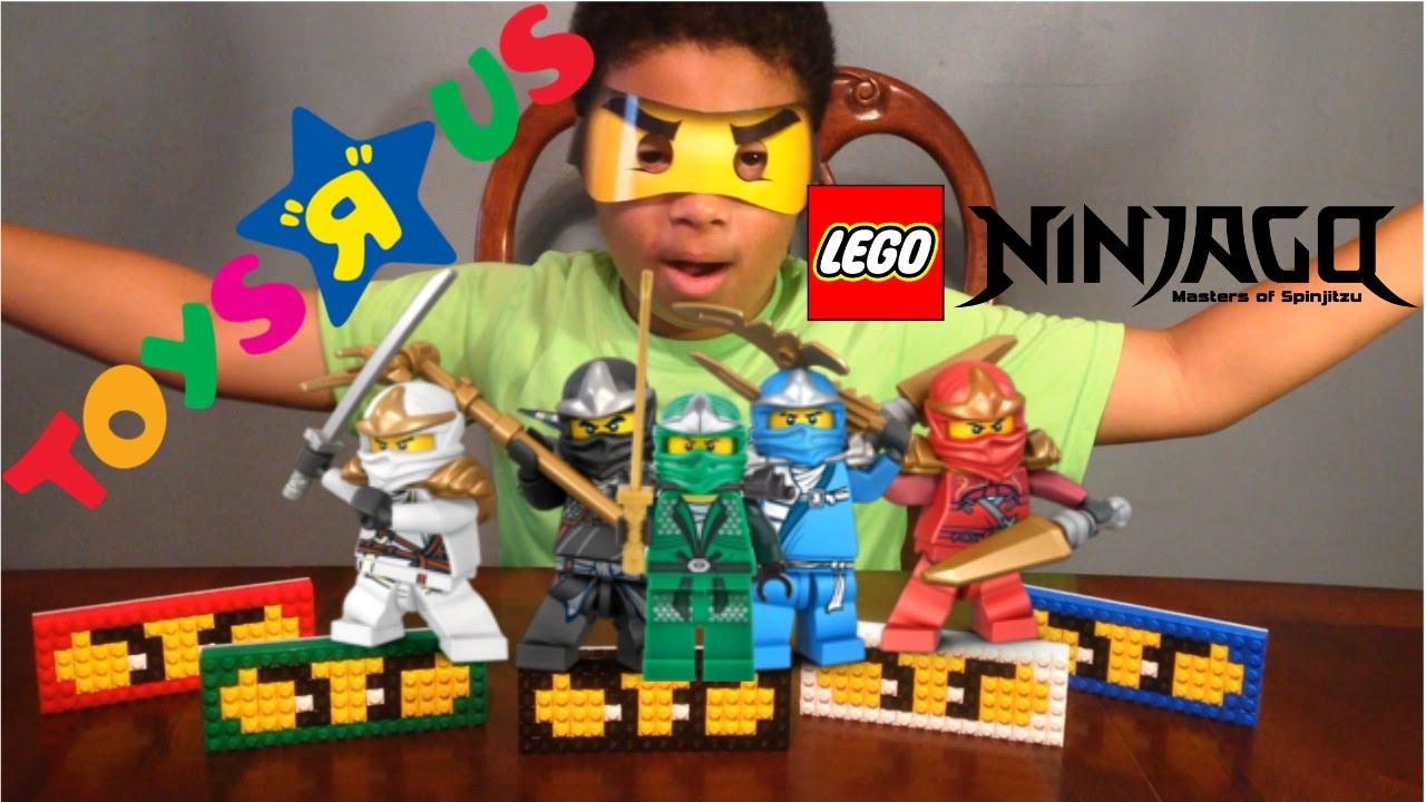 Toys R Us Lego Ninjago Mask Build - YouTube