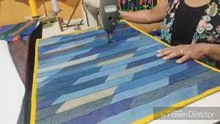 Tapete Feito com Jeans – Emendados na Diagonal