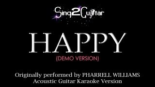 Happy (Acoustic Guitar Karaoke) Pharrell Williams
