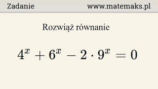Równanie wykładnicze - przykład 15