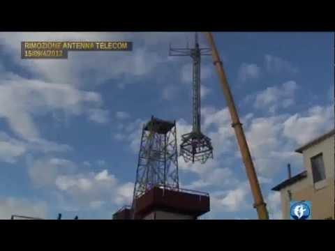 TELEDIAMANTE.IT- Rimozione dell'antenna Telecom di via Europa.