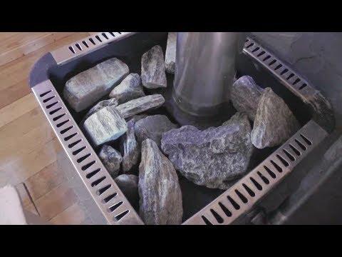 видео: Укладка камней в печь для бани, сауны