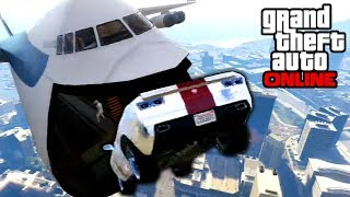 Repeat youtube video GTA 5: Online - Sick Cargo Plane Stunts & BUSTED!