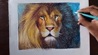 Drawing A Lion (Aslan) - Animal series 3 - Prismacolor pencils