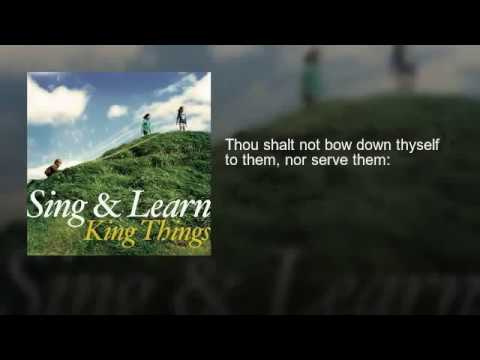 Exodus 20:1-17 KJV with LYRICS