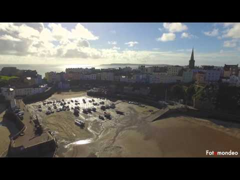 Tenby Wales By Drone