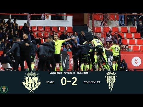 Gimnàstic 0-2 Córdoba | Todos los goles HD | Liga 1,2,3 2017/18