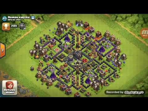 My base, my friends, and top players no. 1 base and one of my attack