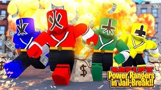 ROBLOX - THE POWER RANGERS TRY TO BREAK OUT OF JAIL!!!