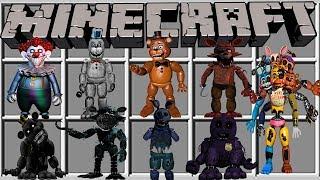 9999 NOVOS ANIMATRONICS ADICIONADOS no MINECRAFT!! (Five Nights At Freddys)