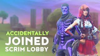 WE ACCIDENTALLY JOINED A SCRIM LOBBY! (Fortnite Battle Royale - Dakotaz)