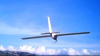 homemade super-deformed glider in the wind