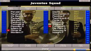 Championship Manager 97/98 gameplay (PC Game, 1997)
