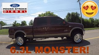 Micha's 800HP 2005 Ford F-250 6.3L Powerstroke on American Force Wheels! Truck Review