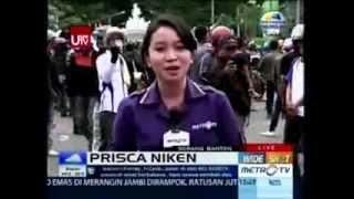 Demo Buruh di Serang Banten Tolak UMP by Prisca Niken