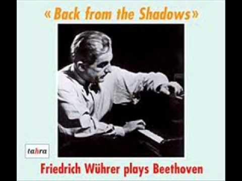 Great Pianists play Beethoven Opus 111 - Friedrich Wührer