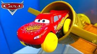 DISNEY PIXAR CARS COPA PISTON HIDRO RUEDAS PISTON CUP SPLASH OFF RAYO MCQUEEN MACK HANK Y RED
