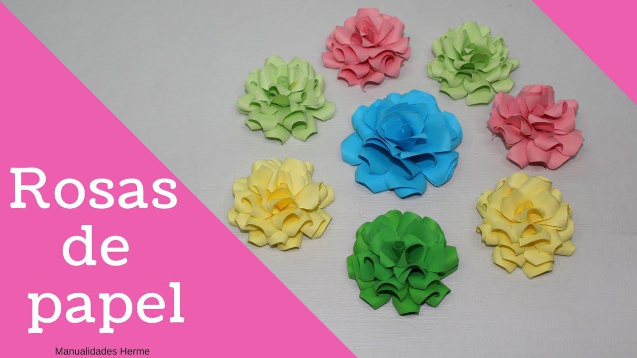 Como hacer rosas de papel youtube - Como hacer flores de papel ...