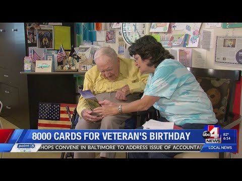 Maverick - World War II Veteran Gets Thousands of Birthday Cards for 101st Birthday