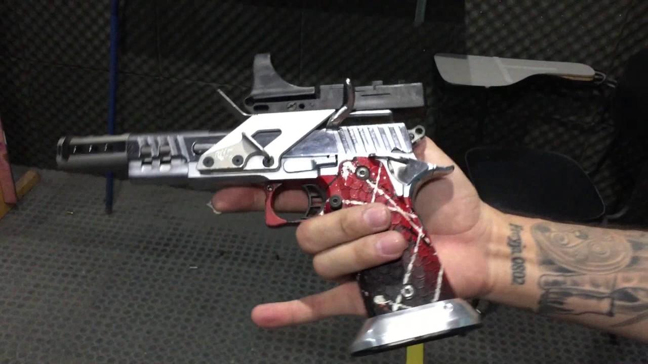 Atirando com Pistola Sti 2011 Trubor Cal 38 Super !!!