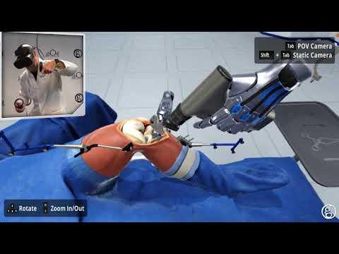 Medical VR Total Knee Surgical Simulator Demonstration