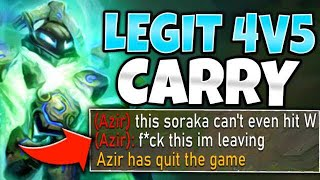 WTF?! I CARRIED A LEGIT 4V5 WITH XERATH! (DAMAGE RECORD) - League of Legends