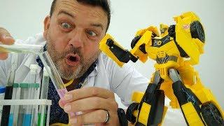 Transformers español. ¡Bumblebee va al Doctor Pep!