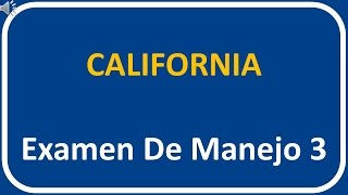 Examen De Manejo De California 3