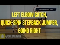 Left Elbow Catch, Quick-Spin Stepback Jumper, Going Right | Dre Baldwin