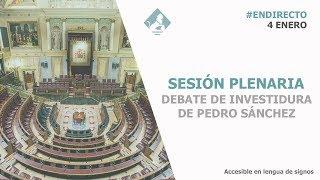 Sesión de Investidura (debate con los Grupos Parlamentarios. 4 de enero)