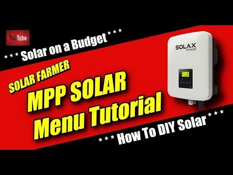MPP SOLAR Menu Tutorial