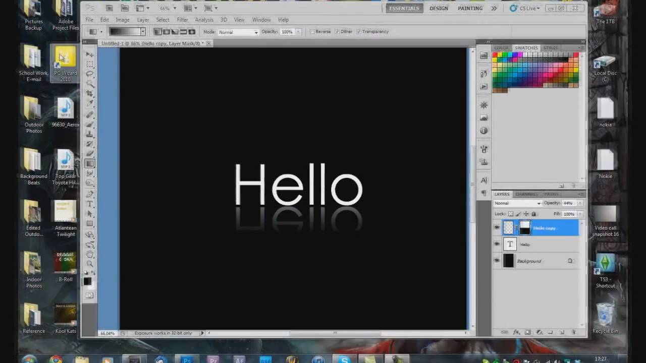 how to make text longerr in photoshop