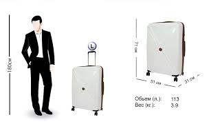 Обзор чемоданов Titan серия Paradoxx white
