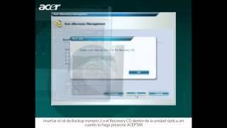Acer eRecovery  Restaurar el sistema desde el CD-DVD