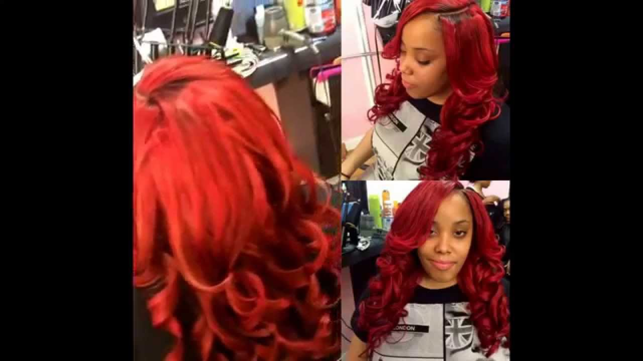 Custom Colored Weave Lace Closure Installed Youtube