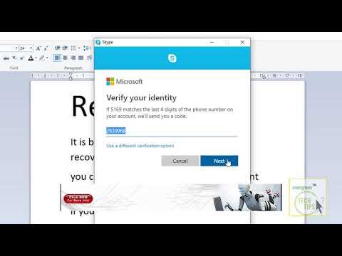 Skype Account Recovery - Forgot Skype Password, Reset Now | Skype Login
