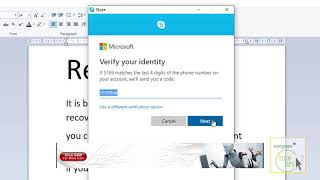 how to Recover Forgotten Skype Password