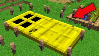 ALL VILLAGERS DONT KNOW FROM WHERE THIS GOLD DOOR IN MINECRAFT 100% TRAP TROLLING !