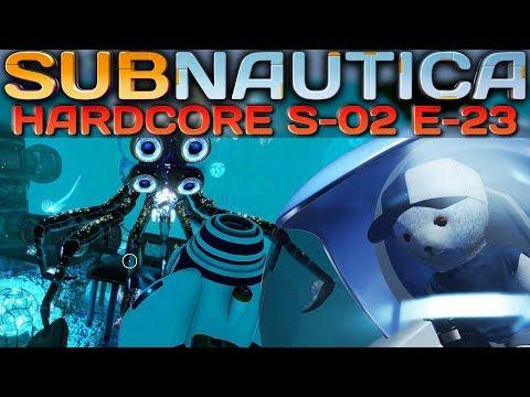 Subnautica HARDCORE Crabsquid Attacke Subnautica Deutsch German Gameplay S2E23