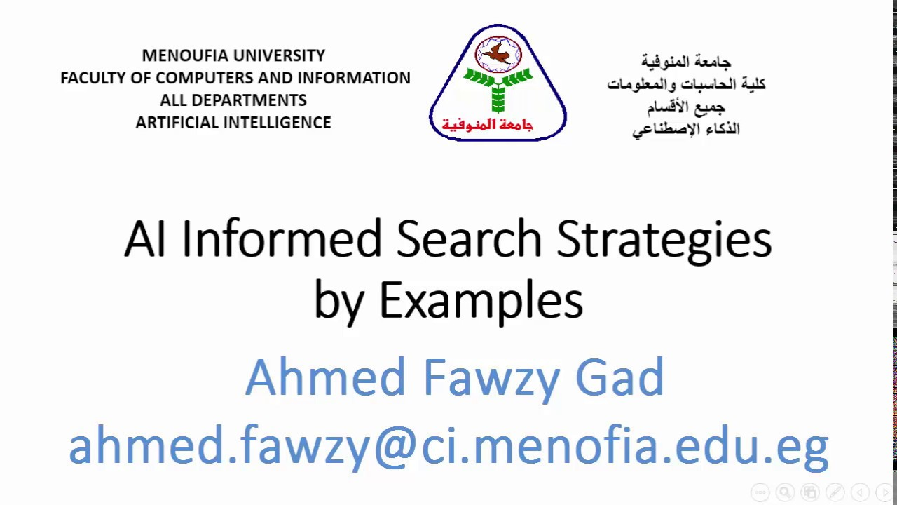 AI A* Informed Search Strategy
