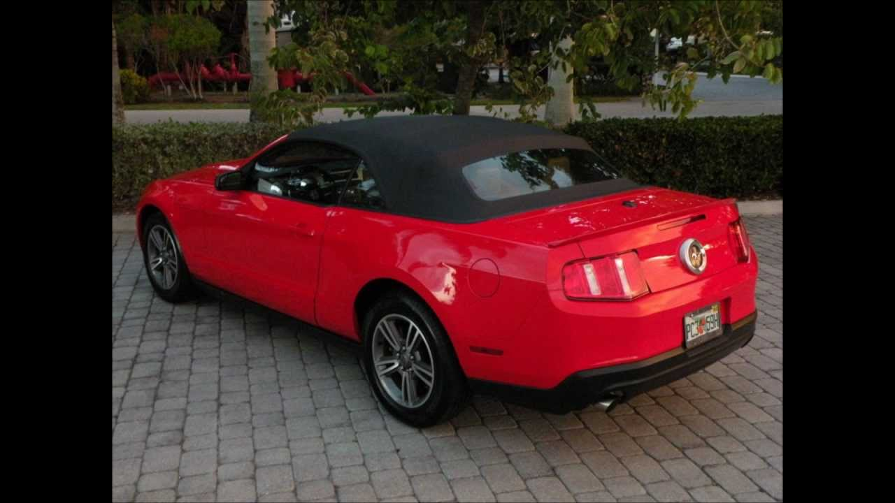 2012 Ford Mustang Premium Convertible Red For Sale Ft ...